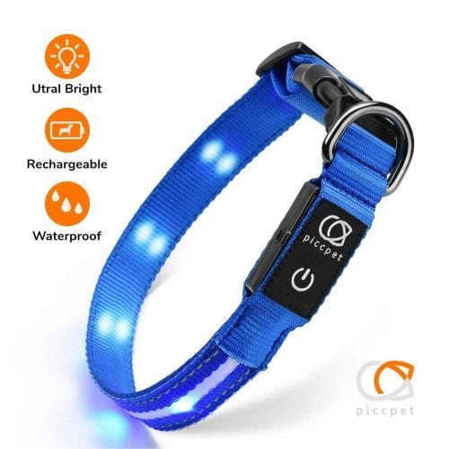 Piccpet LED Dog Collar e1567532913583 - TOP-17 LED Dog Collars in 2019