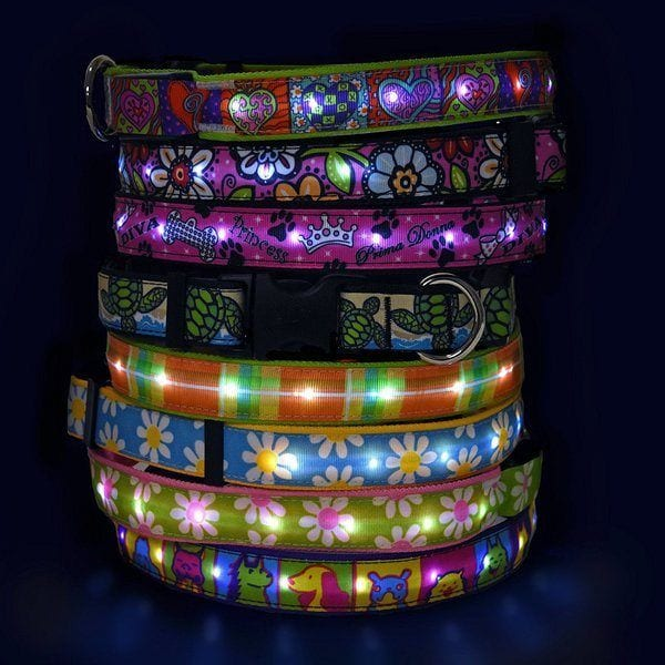 Hot Dog LED Light Up Collar - TOP-17 LED Dog Collars in 2019