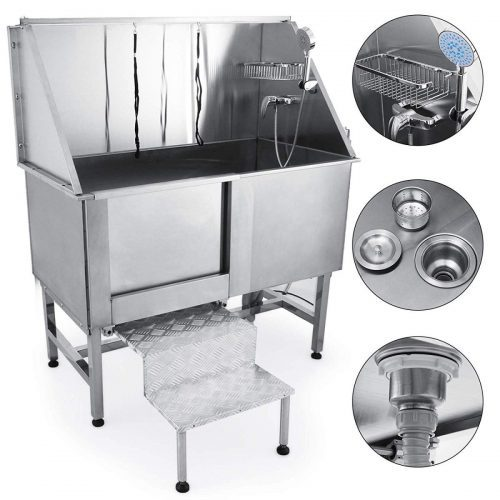 Mophorn 50 Professional Stainless Steel Pet Dog Grooming Tub