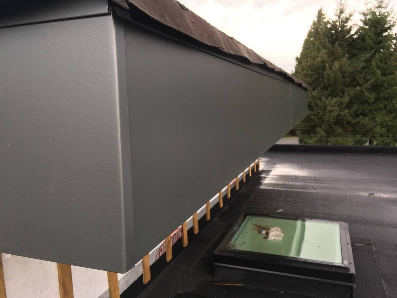 22 ga fascia wrapped roofing cladding