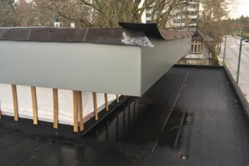 Roofing cladding fascia wrapped