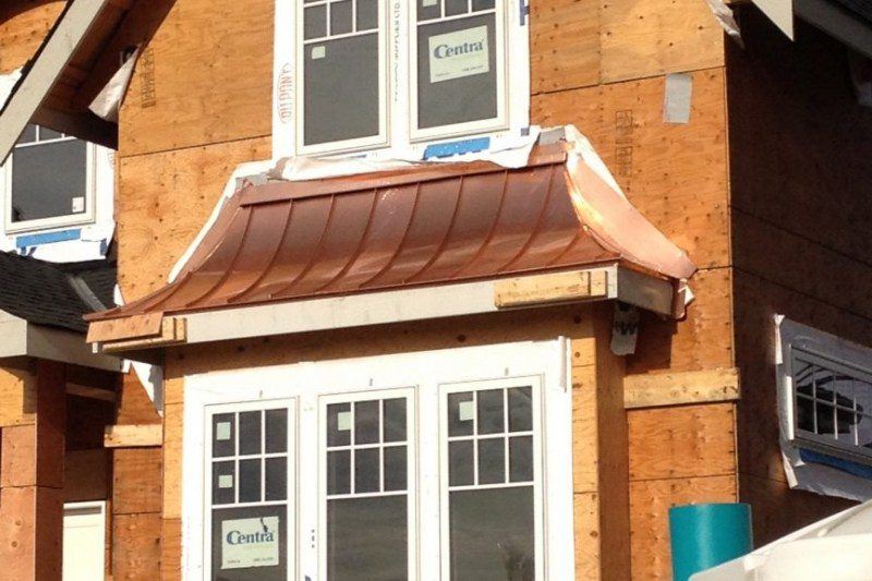 Window roofing copper