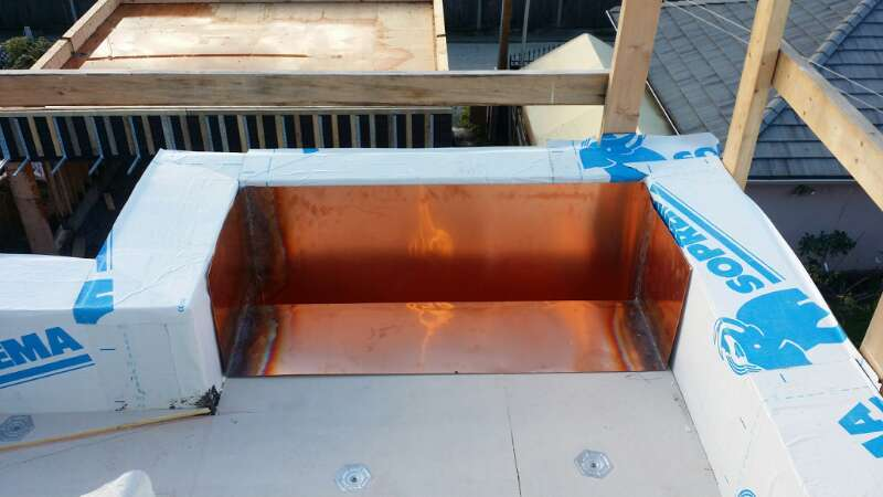 Roof Drain shaft copper