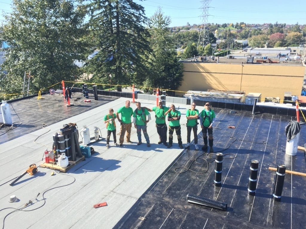 our roofing team completed the commercial roofing project