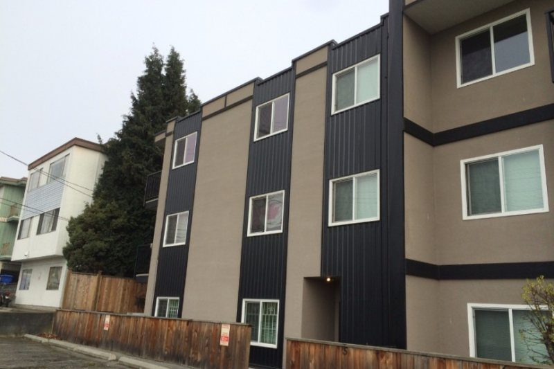 Metal roof and wall siding cladding for strata dwellings
