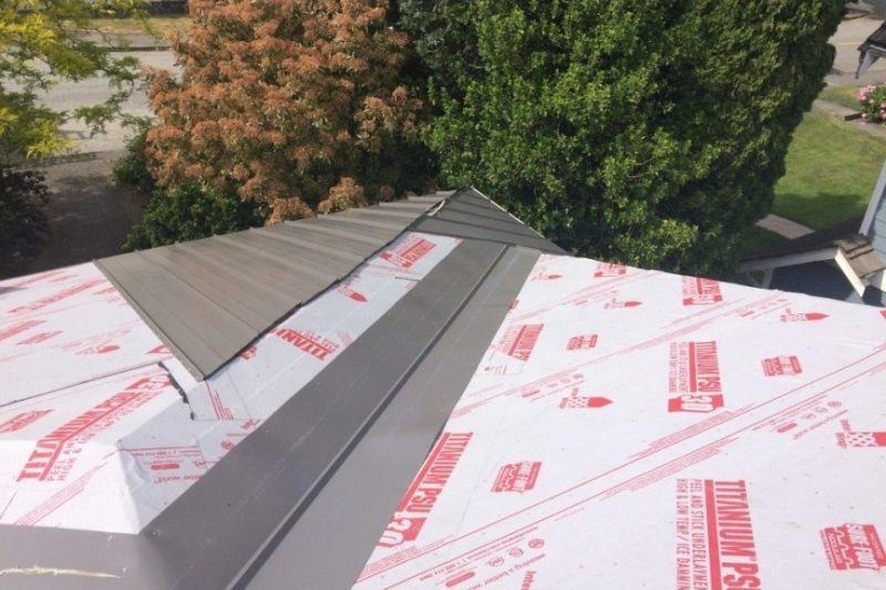 metal roofing construction in progress