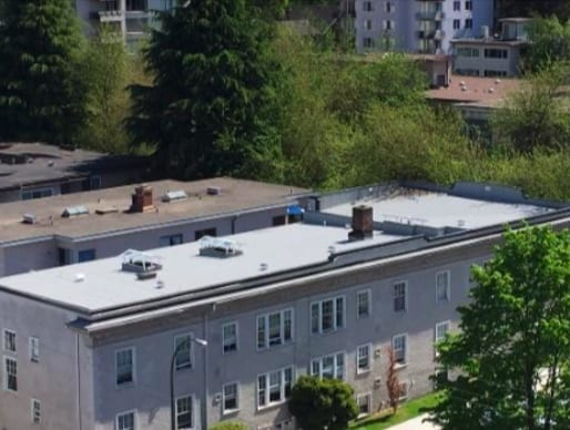 commercial roofing project at west 12th ave in Vancouver