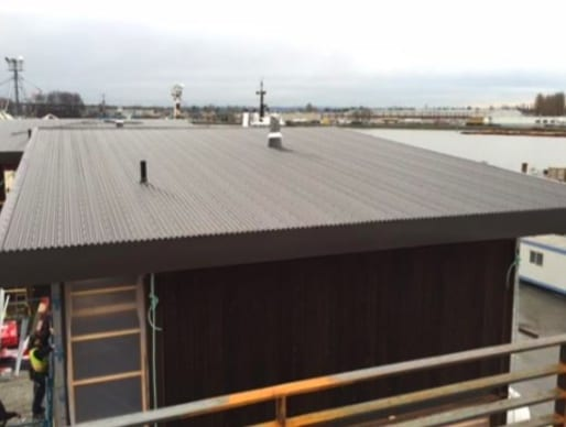 commercial roofing project at Mitchell road in Richmond