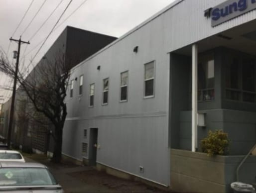 commercial roofing project at Pandora street in Vancouver