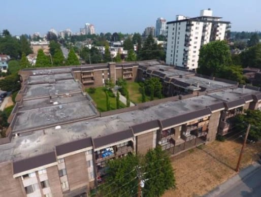 commercial roofing project at 720 queens ave in New Westminster
