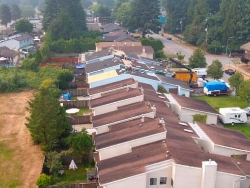 commercial roofing project at Ulster Street in Port Coquitlam