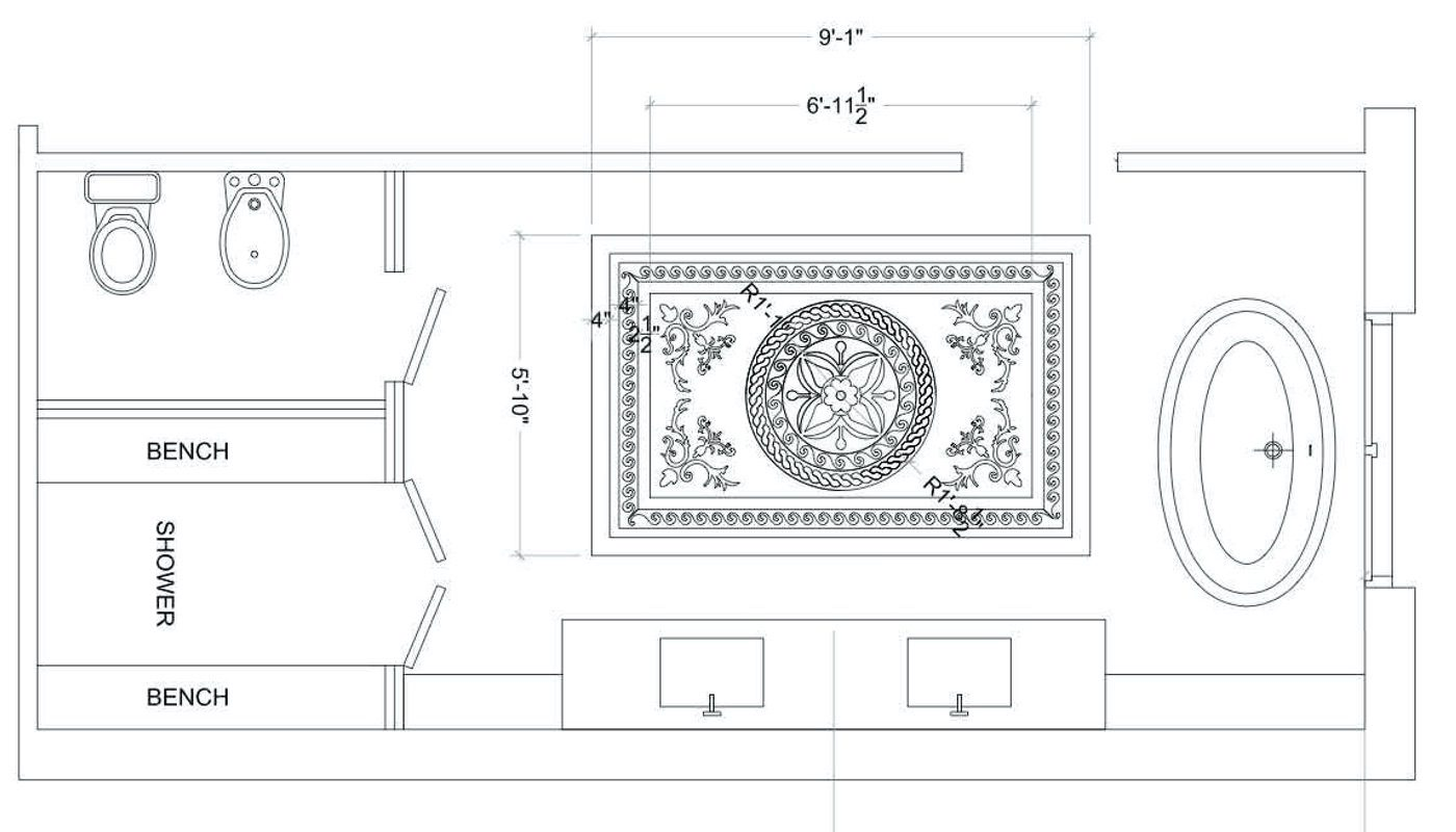 floor medallion plan