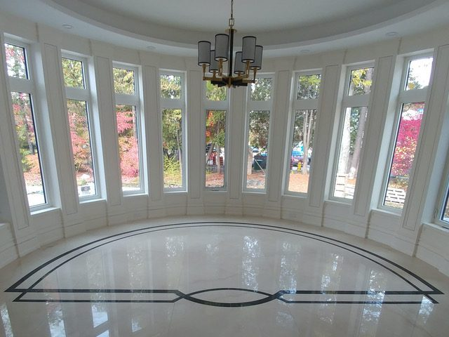 Window floor inlay