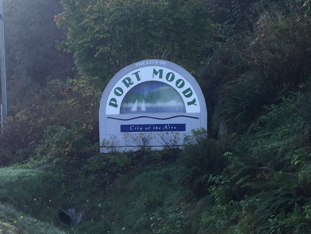 Port Moody city sign
