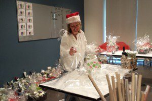 wrapping-presents-at-office