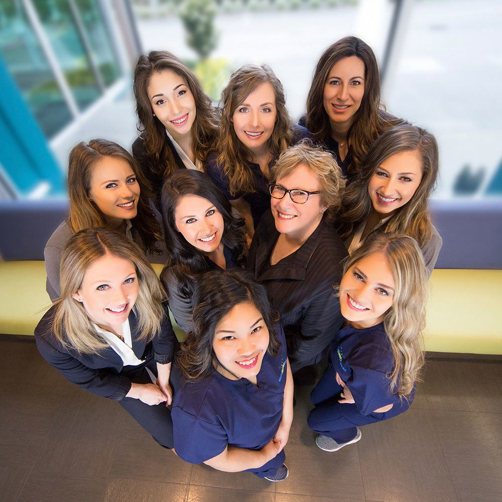 south surrey smiles dental team at the office