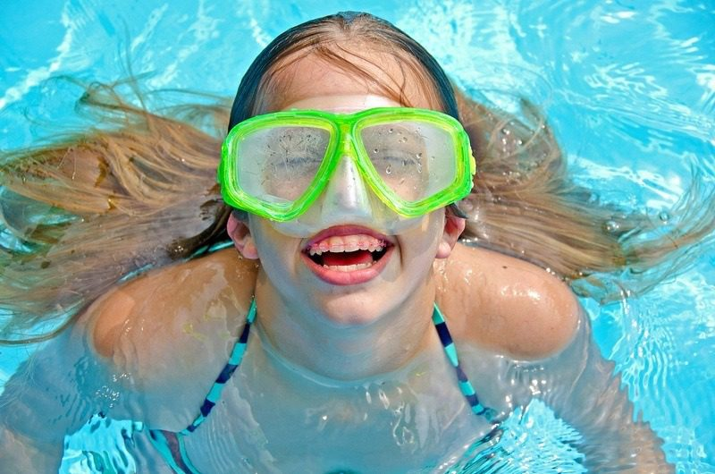 swimming with braces