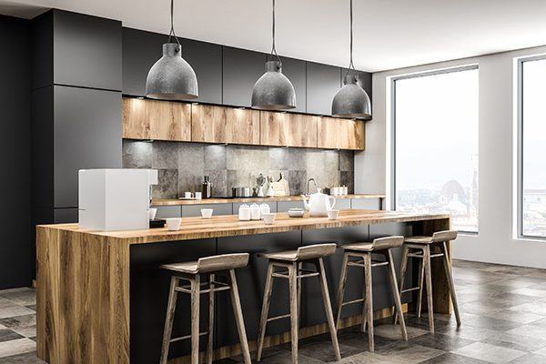 renovation kitchen with modern design and worth it when you sale your home